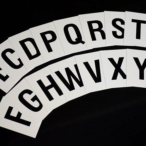 alphabet letters, a-z, plastic letters, church letters