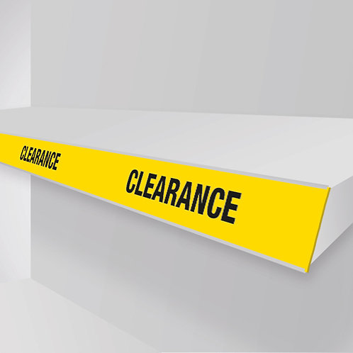 clearance shelf strips