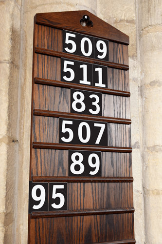 Hymn Numbers White Numbers