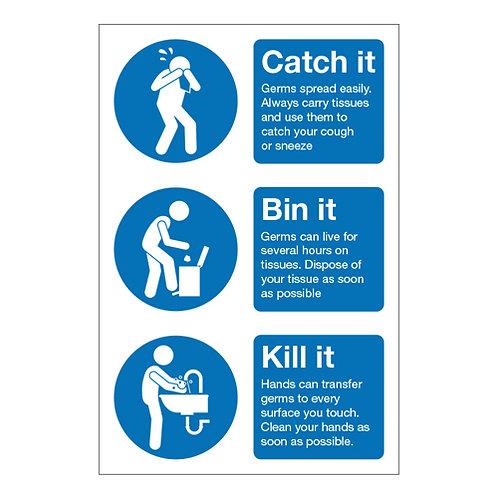 Catch It Bin It Kill It Prevent Germs Spreading Self