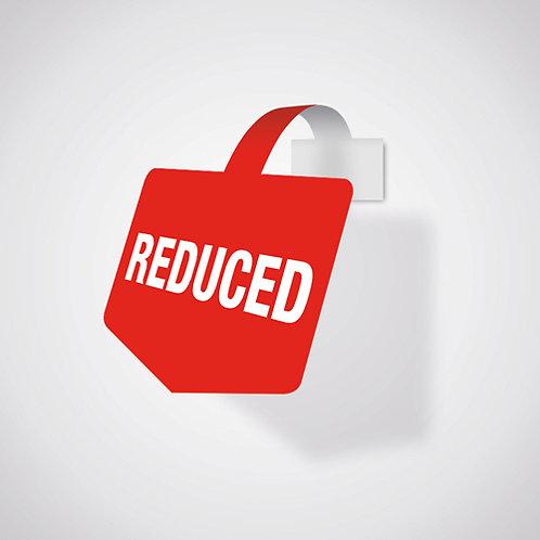 reduced, shelf wobbler, shelf talker, sale