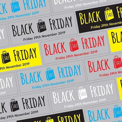 black friday window stickers, sales, offers, discounts, window display
