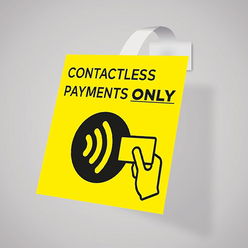 contactless payments shelf wobbler, shop till, point of sale