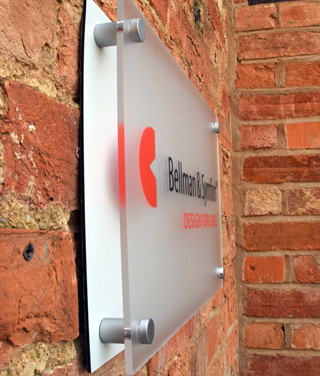 Perspex Signage, Satin Stand offs