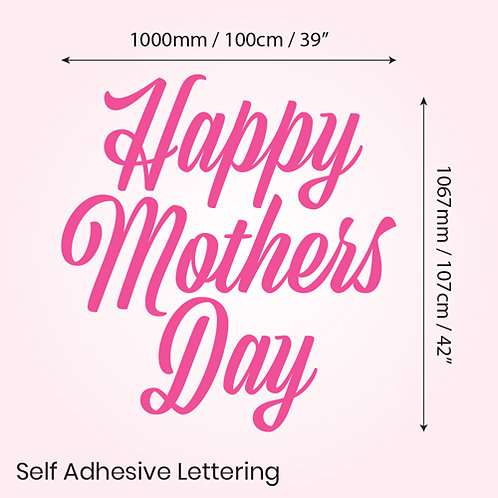happy mothers day, pink, self adhesive lettering