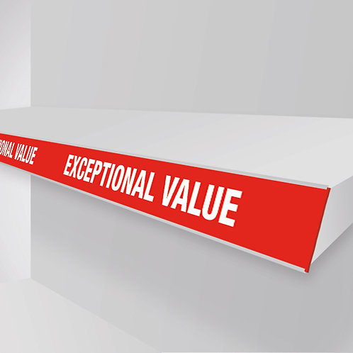 exceptional value shelf strips