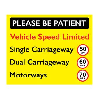 please be patient speed limit sticker