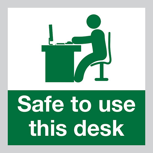 safe to use this desk social distancing stickers