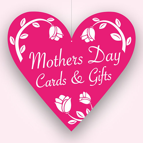 mothers day gifts cards, mobiles signs, hanging signs