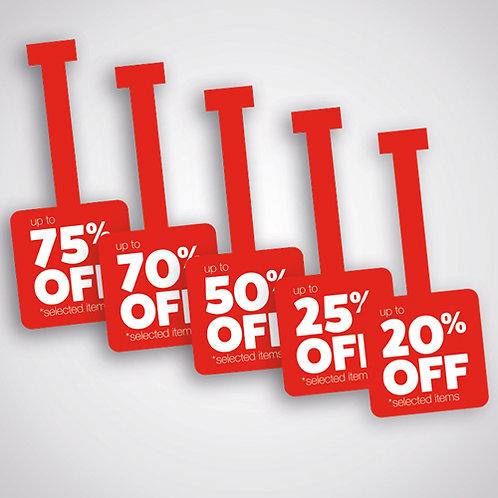 shelf wobblers, shelf talkers, shop sale, discounts offer