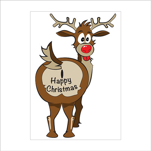 reindeer christmas decoration, window stickers