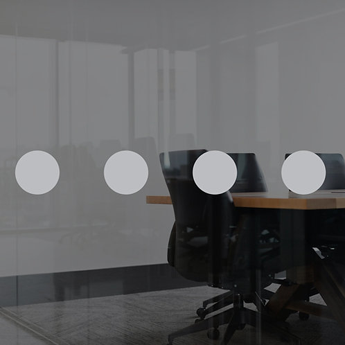 glass safety window dots manifestations, frosted vinyl