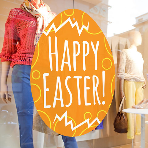 easter egg decorations, easter window display