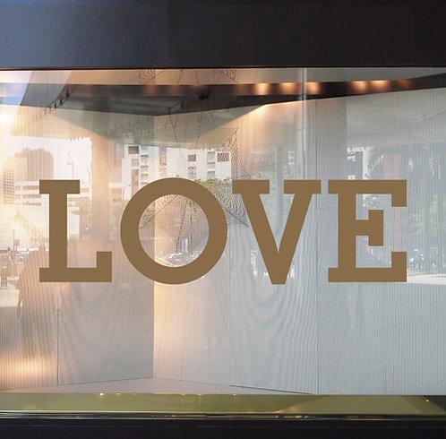 love letters, vinyl window stickers
