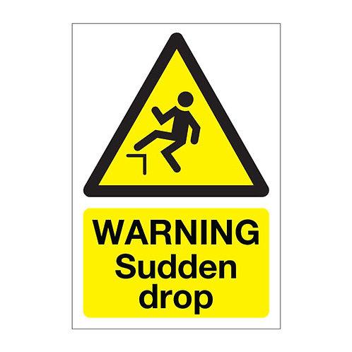 sudden drop sticker