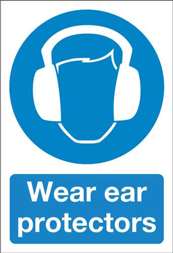 wear ear protectors, health and safety