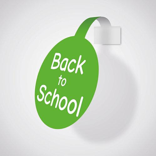back to school, shelf wobblers, shelf talkers, shop sale