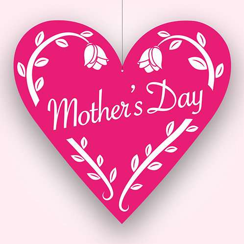 mothers day pink sign, hanging mobile