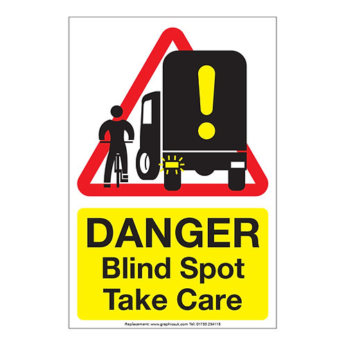 blind spot take care lorry sticker