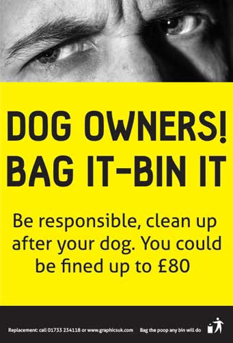 dog fouling, dog poo stickers, wheelie bin poo stickers