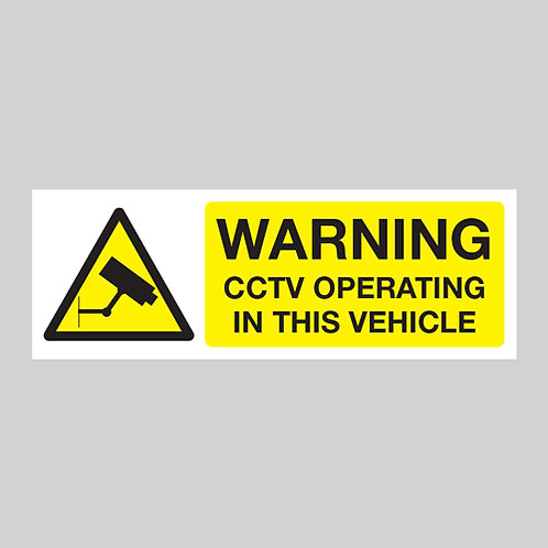 cctv warning stickers vehicle