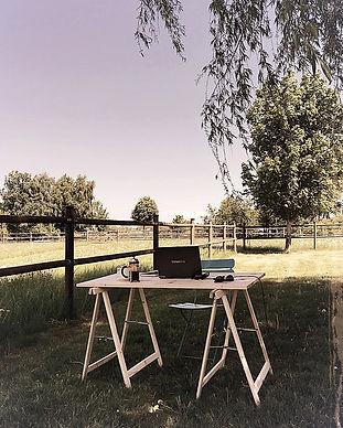 Outdoor desk, Soeder Countryhouse