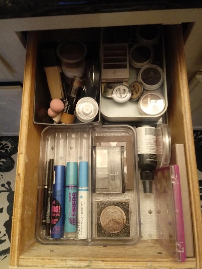 makeup drawer after