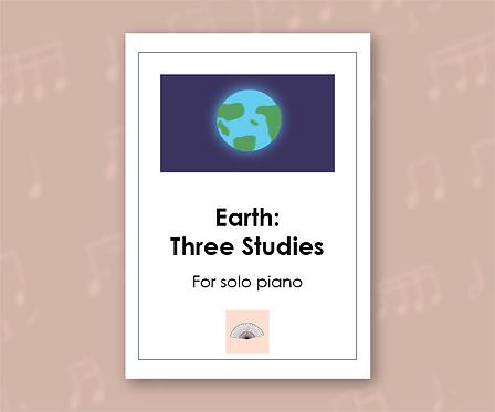 Earth: Three Studies for piano solo