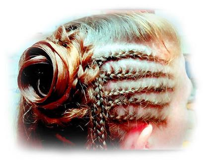 Hair Flower with Cornrows
