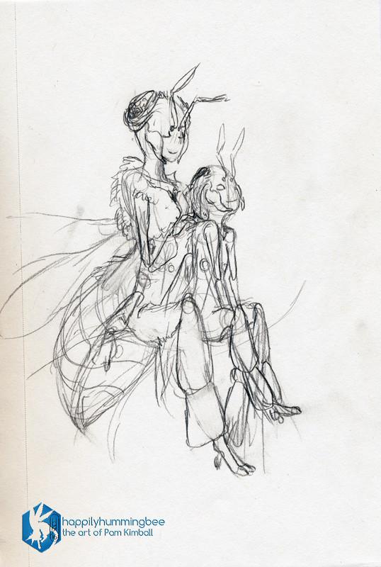 Braided Hearts - sketch