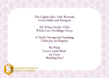 """""""Sweet Bells and Bouquet"""" poem"""