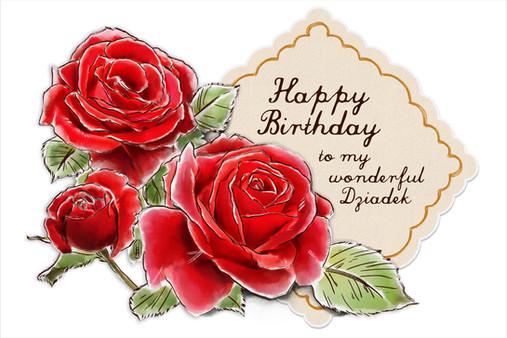 Dziadzia's Birthday Rose