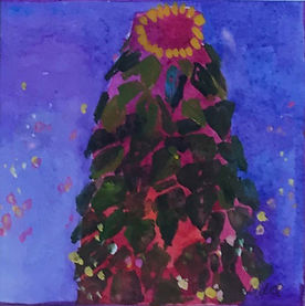 Ode to Klimt at Christmas 3.75 x 3.75 go