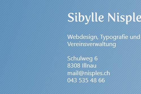 Sibylle Nisple, Typografie