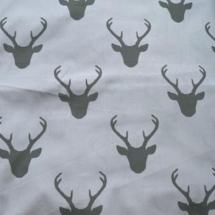 Deer Head On Grey