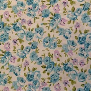 Mauve Blue Floral