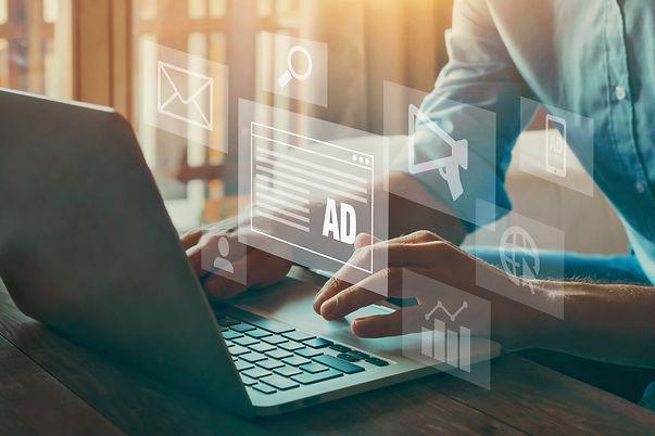 digital marketing concept, online advertisement, ad on website and social media.jpg