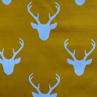 Deer Head On Mustard
