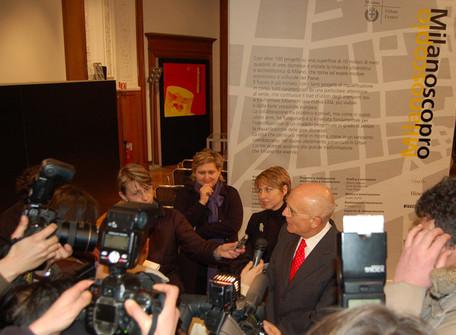 Conferenza stampa con il Sindaco di Milano e l'architetto responsabile di Milanoscopio, Monika Unger   Press Conference