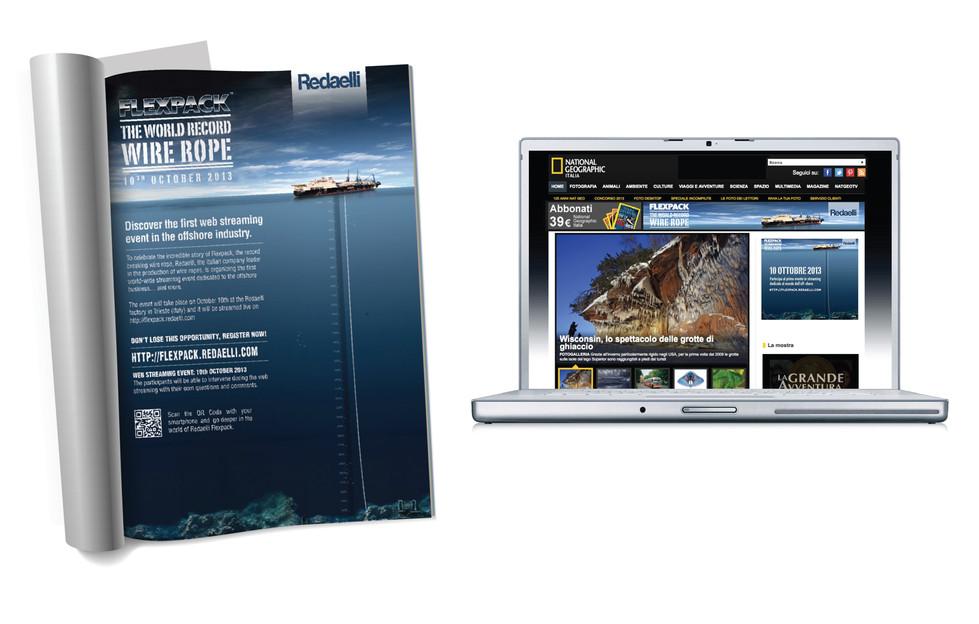 Campagna di comunicazione int.le stampa e web | International communication campaign, press and web