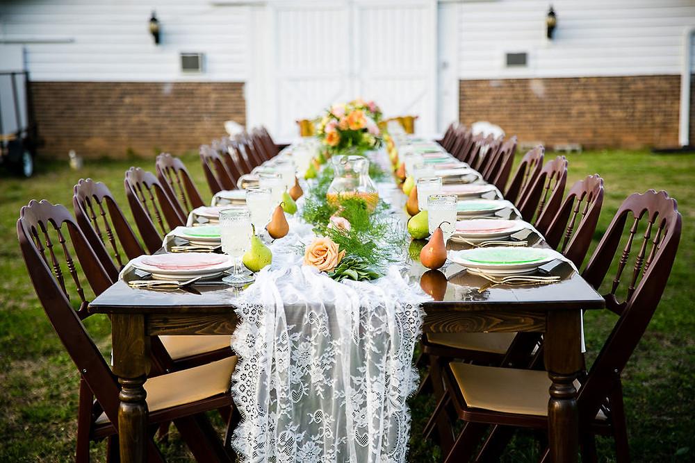 boho chic wedding table