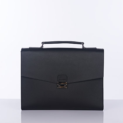 Saffiano Messenger Black