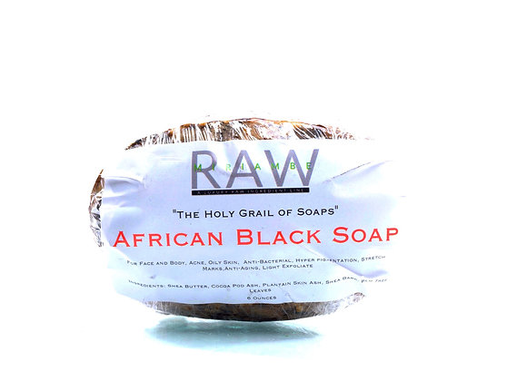 African Black Soap Bar 6oz.