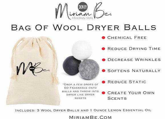 Wool Dryer Balls with Lemon Essential Oil