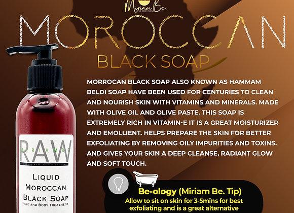 Liquid Moroccan Black Soap 8oz.