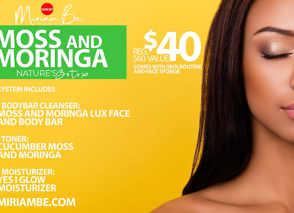 Special Moss and Moringa Skin Routine