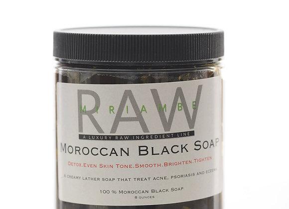 Moroccan Black Soap 8 oz