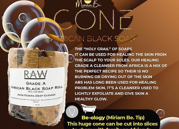 African Black Soap Cone