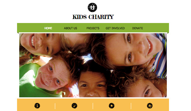 Community website templates – Kids Charity