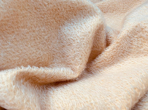Mohair Fabric 8mm Pale Apricot